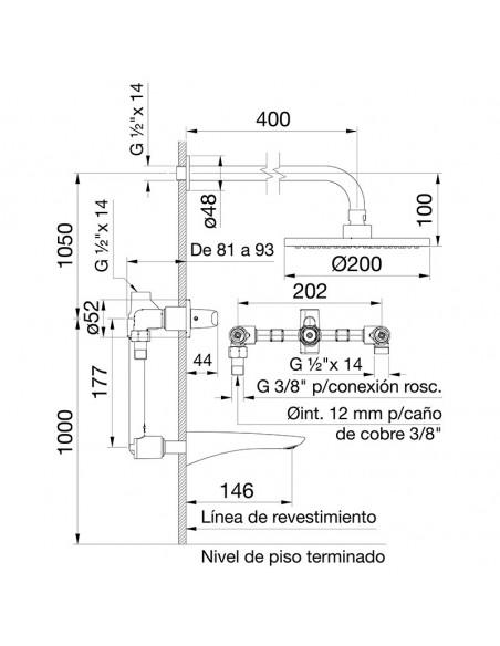 FV 103/L2 CR - Juego para Bañera Y Ducha Epuyen