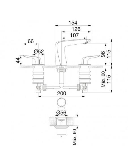 FV 207/L2 CR - Juego para Lavatorio Epuyen
