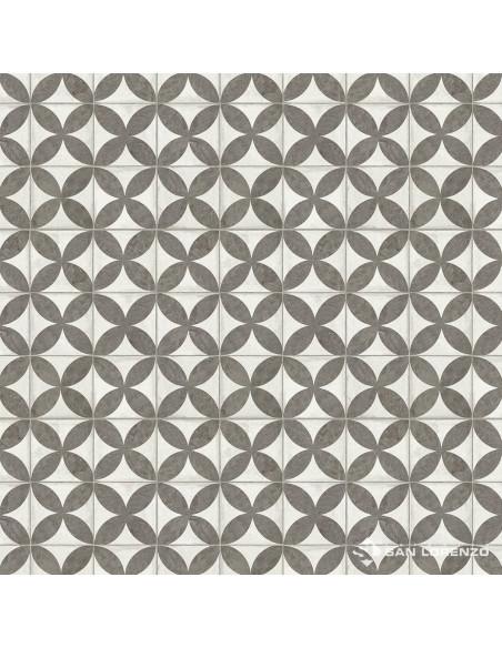 San Lorenzo Flower Black Cer. 45.3x45.3 (2.05)